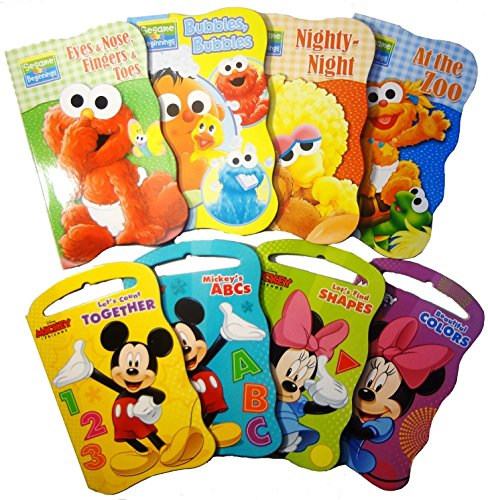 2-Set-of-Baby-Toddler-Beginnings-Board-Books-Sesame-Street-Set-Mickey-Mouse-and-Friends-Set-Total-8-Books