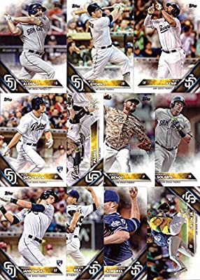 2016 Topps Series 1 San Diego Padres Baseball Card Team Set - 11 Card Set - Includes Matt Kemp, Yonder Alonso, Jedd Gyorko, Yangervis Solarte, and more!