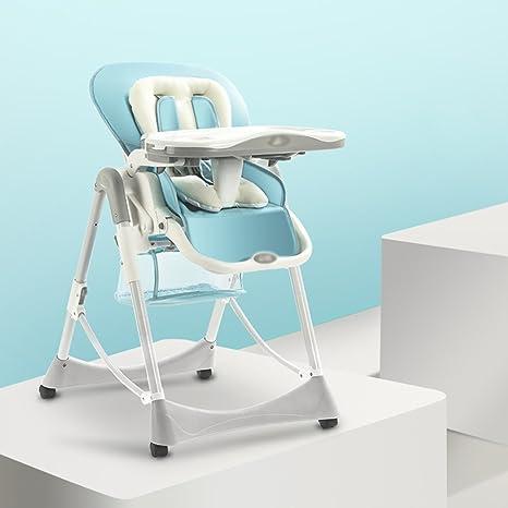 Silla de comedor para niños Silla de comedor portátil plegable para bebés Mesa de comedor multifuncional para bebés ( Color : Blue-2 )