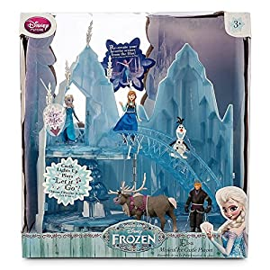 Disney Store Frozen Elsa Musical Light-Up Ice Castle Play Set & 5 Doll Figurines