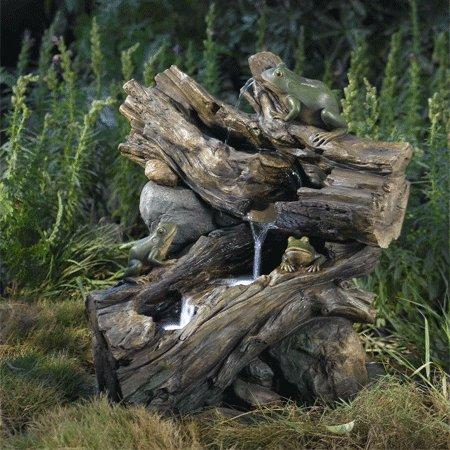 Driftwood Frog Falls Water Feature by Aqua Moda
