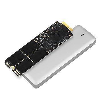 Disco duro s/ólido interno SSD de 960 GB para MacBook Pro Retina de 15 y carcasa USB 3.0 color plateado Transcend JetDrive 725