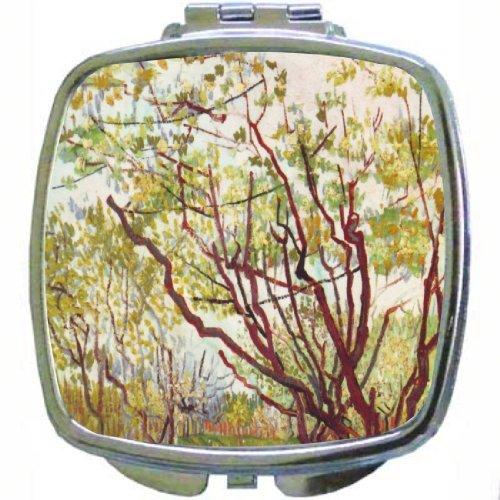 Rikki Knighttm Van Gogh Art Cherry Tree Design Compact Mirror front-9073