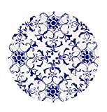 "Talking Tables Party Porcelain Canape Plates (12 Pack), 5"", Blue & White"
