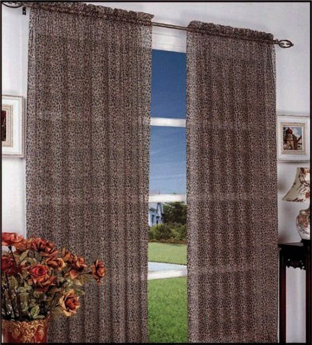 Animal print sheer curtains