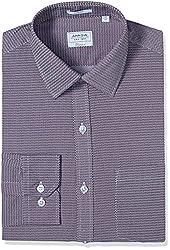 Arrow Men's Formal Shirt (8907378522641_ASSF0293_46_Medium Pink)