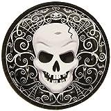 8 Halloween Dessert-Teller mit Totenkopf