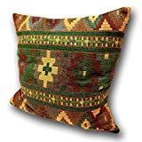 Tamarind Bay 18 in Luxury Tapestry Throw Pillow Cushion Cover with Native American Inspired Pattern