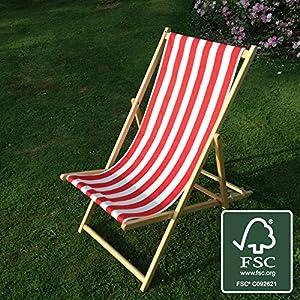 Deckchair (Red and White stripe)