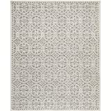 Safavieh Cambridge Collection CAM123D Handmade Silver and Ivory Wool Area Rug, 6 feet by 9 feet (6' x 9')