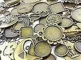 【HARU雑貨】ミール皿 30枚セット 金古美/種類イロイロ詰め合わせ/レジンアクセサリーに ハンドメイドパーツ