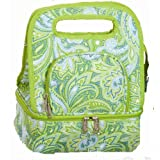 Picnic Plus Savoy Insulated Lunch Tote, Green Paisley