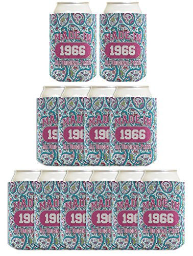 50th birthday gift coolie made 1966 can coolies 12 pack for 50th birthday decoration packs