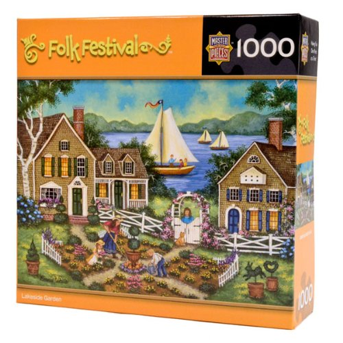 Masterpieces Lakeside Garden Puzzle - 1
