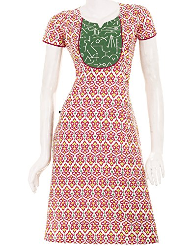 eSTYLe Casual Cotton Kurta With Red Anchor Prints (multicolor)
