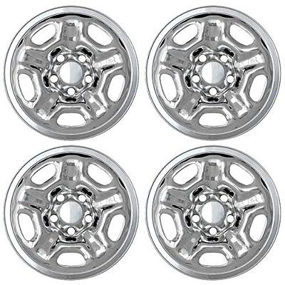"Set of 4 Chrome 15"" Hub cap Wheel Skins: 2005-14 Toyota Tacoma Regular Cab 15x6 Inch 5 Lug Steel Rim - Aftermarket: IMP/66X"