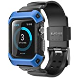 Apple Watch 2 Case, SUPCASE [Unicorn Beetle Pro] Rugged Protective Case with Strap Bands for Apple Watch Series 2 2016 Edition [42mm, Compatible with Apple Watch 42 mm First Generation 2015] (Blue) (Color: Blue)
