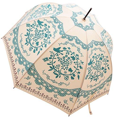 Kung Fu Smith Vintage Flower Totem Print Bubble Dome Rain Umbrella 2