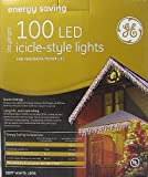 GE Energy Saving 100 LED Icicle-Style Warm White Holiday Lights - Outdoor or Indoor