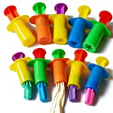Acmer Dough Extruders Set Assorted Designs, Bright colors, a set of 10,Dough Extruder Tools Kit for Children,Clay dough extruders.