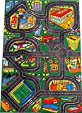 Toy - Giant Road, Stadium & Fun Fair Playmat (150x100cm) - it's loaded with vibrant features!