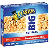 Planters Big Nut Bars, Double Peanut, 8.1-Ounce, 5-Count Cartons (Pack of 10) ~ Planters