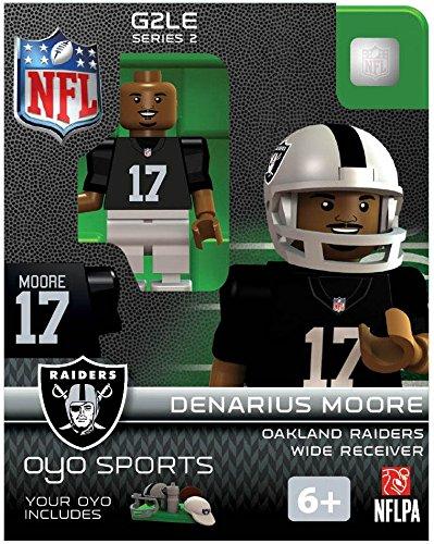 NFL Oakland Raiders NFL Generation 2 Series 2 Minifigure Denarius Moore - 1