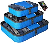 Packing Cubes - 4 pc Value Set - #1 Best Seller in Travel Accessories - Bonus Shoe Bag Included - Lifetime Guarantee - By Bingonia