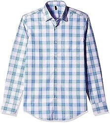 United Colors of Benetton Men's Casual Shirt (8903975161894_16P5AF10U008I_L_Blue)