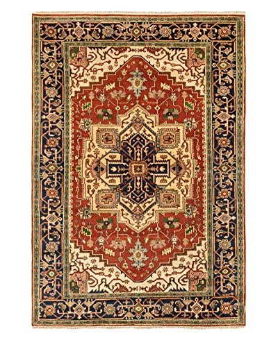 Hand-Knotted Serapi Heritage Wool Rug, Dark Copper, 6' 1 x 8' 11