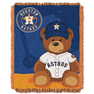 MLB Houston Astros Field Woven Jacquard Baby Throw Blanket, 36x46-Inch by Northwest
