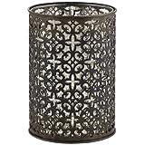Bettina European Bronze Metal Pillar Candle Holder