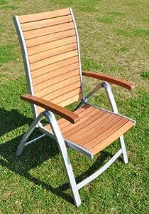 5 positionen klappstuhl lynx holz alu garten. Black Bedroom Furniture Sets. Home Design Ideas