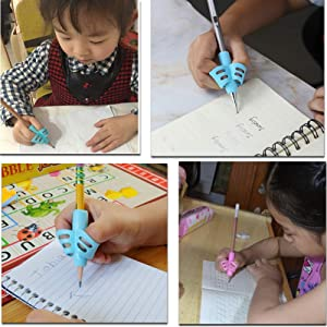 Pencil Grips - Pencil Grips for Kids Handwriting Pencil Grip Posture Correction Training Writing AIDS for Kids Toddler Preschoolers Students Children Special Needs (12PCS) (Color: multicolored 12 PCS)