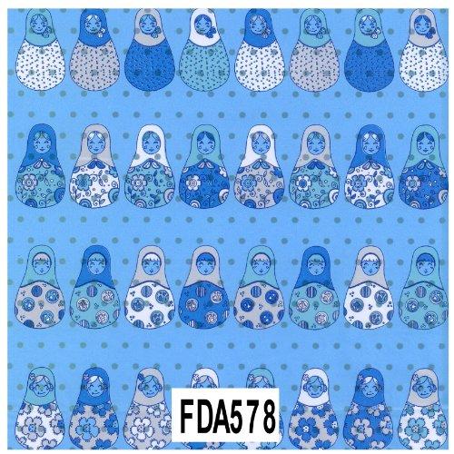 Decopatch Decoupage Paper Mache - Blue Silver & White Russian Nesting Doll 578 F