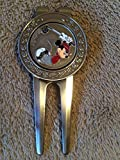Authentic Disney Mickey Mouse Golf Money Clip Divot Tool & Ball Marker