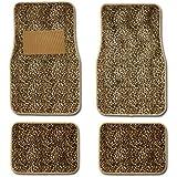 Cheetah Animal Print Auto Floor Mat 4 Pcs