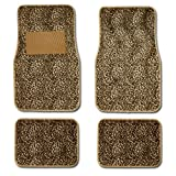 612wdlcSK1L. SL160  Cheetah Animal Print Auto Floor Mat 4 Pcs