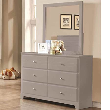 6-Drawer Dresser in Grey Finish