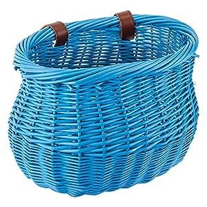Sunlite Mini Willow Bushel Basket - Blue
