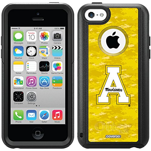Appalachian State Color Camo Design On A Black Otterbox® Commuter Series® Case For Iphone 5C