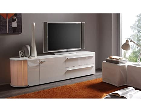 Meuble TV design Lumino 2 Blanc