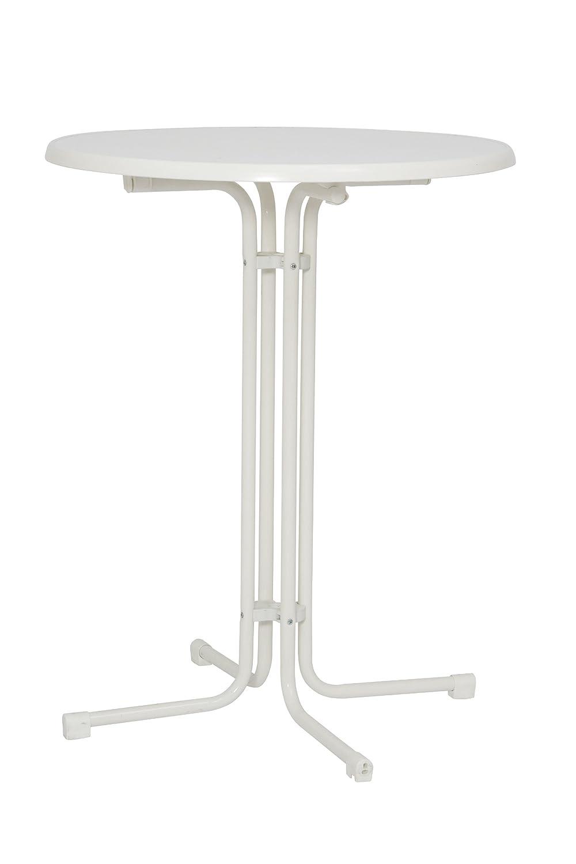 MFG Stehbiertisch Stahlrohrgestell weiß, marmorierte Sevelittplatte online kaufen