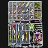 Fishing Crankbait Popper Minnow Spoon Soft Lure Baits Hooks Tackle Set