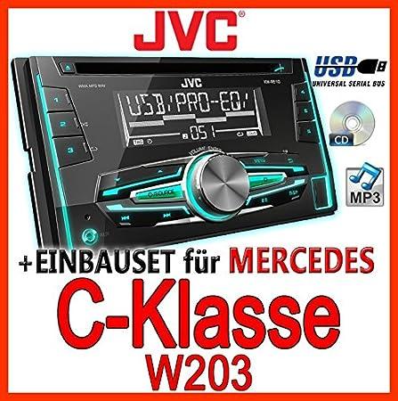 Mercedes-benz w203 classe c-jVC-kW-r510E-kit de montage d'autoradio 2 dIN