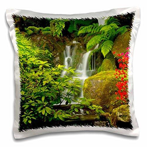 Waterfalls Heavenly Falls Portland Japanese Garden Oregon 16x16 Inch Pillow Case