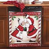 Kissing Santa Christmas Kitchen Dishwasher Cover Large