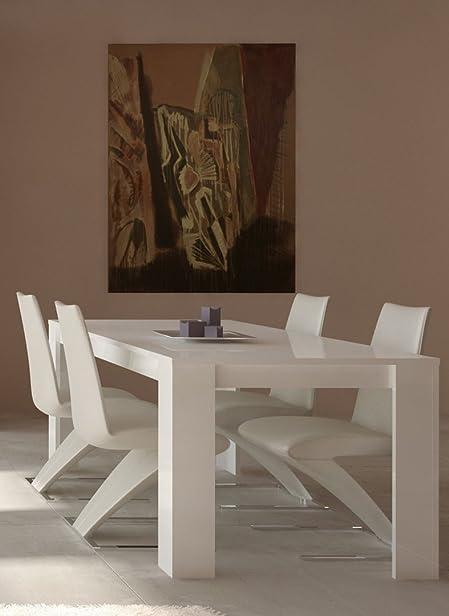 Tavolo da pranzo modello MAX colore Bianco Laccato cm L180