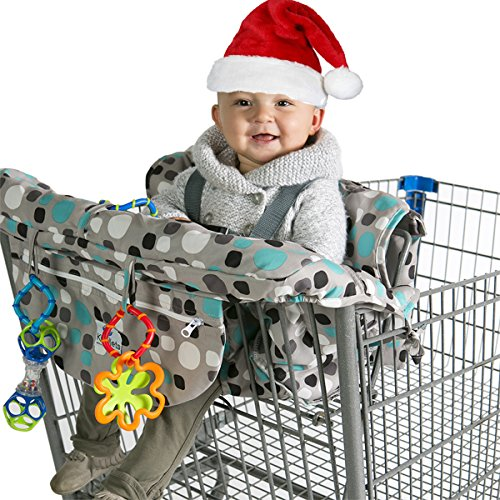 kiddlets-shopping-cart-high-chair-cover-for-baby-includes-carry-bag-machine-washable-best-gift-idea