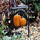Miniature Fairy Garden Welcome Fall Sign with Post